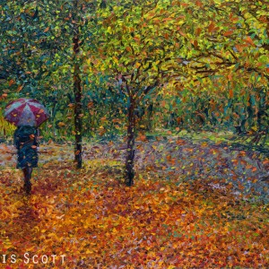 Iris Scott - Umbrella & Autumn Leaves Again, 5/8/12, 2:10 PM, 16C, 10000x11674 (0+945), 125%, Custom,  1/60 s, R75.1, G49.4, B62.6
